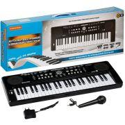 Музыкальный инструмент Bondibon Синтезатор Клавишник с микрофоном и блоком питания 49 клавиш