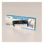 Музыкальный инструмент ABtoys Синтезатор с микрофоном и адаптером (37 клавиш)