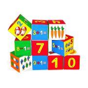Развивающая игрушка Мякиши Кубики Умная математика 10 шт.