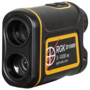 Оптический дальномер RGK D1000 для охоты 1000 м черный/желтый