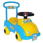 Каталка-толокар Совтехстром Автомобиль № 1 (У438) со звуковыми эффектами желтый/голубой