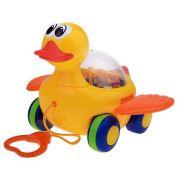 Каталка-игрушка Play Smart МиниМи утенок (Р0916RPS/L) со звуковыми эффектами желтый