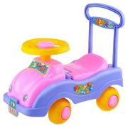 Каталка-толокар Совтехстром Автомобиль для девочек (У447) со звуковыми эффектами фиолетовый/розовый