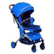 Прогулочная коляска Nuovita Giro Lux blu argento, цвет шасси: серебристый