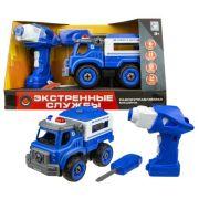 Винтовой конструктор 1 TOY Экстренные службы Т16962 Полицейский грузовик