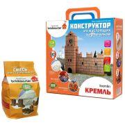 Конструктор Висма Из настоящих кирпичиков 208 Кремль + Смесь для строительства 001