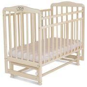Кроватка SWEET BABY Ennio (качалка), поперечный маятник белое облако