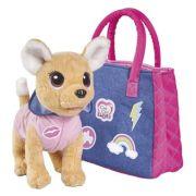 Мягкая игрушка Simba Chi chi love Собачка Городская мода с сумочкой и стикерами 20 см