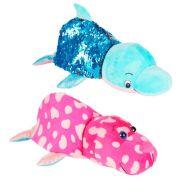 Мягкая игрушка 1 TOY Вывернушка Блеск Дельфин-Морж 30 см