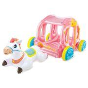 Надувной игровой центр Intex Карета принцессы 56514 белый/розовый