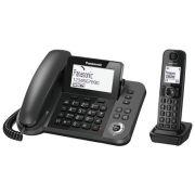 Радиотелефон Panasonic KX-TGF310 серый металлик