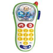 Интерактивная развивающая игрушка Chicco Музыкальный телефон с фотокамерой белый