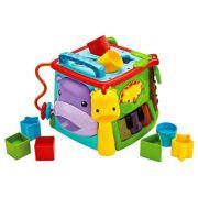 Интерактивная развивающая игрушка Fisher-Price Обучающий игровой куб (GHT89) голубой/оранжевый/зеленый