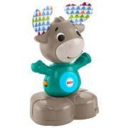 Интерактивная развивающая игрушка Fisher-Price Музыкальный лось (GJB21) серый/голубой