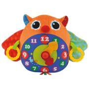 Интерактивная развивающая игрушка K's Kids Часы-Сова оранжевый