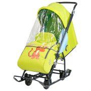Санки-коляска Nika Disney baby 1 (DB1) с Тигрой лимонный