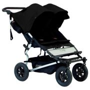 Коляска для двойни и погодков Mountain Buggy Duet 3.0 Black Черная с черным